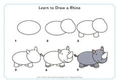 Animal photography how to draw a rhino, rhino piercing, rhino architecture, rhino face, rhin. Easy Drawings For Kids, Drawing For Kids, Cartoon Drawings, Animal Drawings, Rhino Spiderman, Rhino Architecture, Zoo Drawing, Drawing Sketches, Rhino Tattoo
