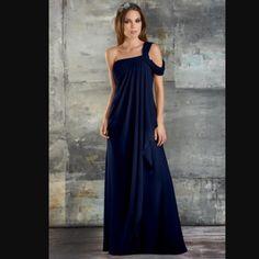 Bari Jay 653 bridesmaid dress Navy, size 2 Navy Bari Jay 653 bridesmaid dress. Only worn once in a wedding. Size 2. Has not been altered. Dresses Maxi