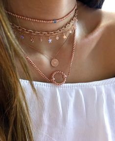 Chain Necklace with Circle Pendant 925 Silver Rose Gold Vermeil Silver Chain Necklace, Silver Earrings, Silver Jewelry, Layered Necklace Set, Scarf Jewelry, 925 Silver, Silver Ring, Sterling Silver, Jewelry Patterns