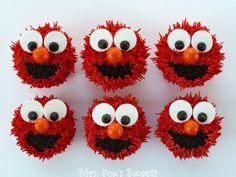 Ms. Foxs Sweets: Elmo Cupcakes