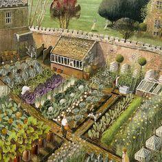 original_Artcard Richard adams The Vegetable Garden Senecio Fine Art Printers.jpg 510×510 pixels