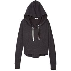 Pullover Hoodie ($20) ❤ liked on Polyvore featuring tops, hoodies, jackets, sweaters, outerwear, hoodie pullover, hoodie top, sweatshirt hoodies, hooded pullover and hoodies pullover