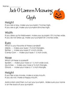 halloween glyph with coin math freebie halloween pinterest bingo activities and coins - Halloween Glyphs