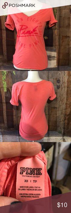 🧡PINK🧡 Nineteen eighty six tee shirt Great condition PINK Victoria's Secret Tops Tees - Short Sleeve