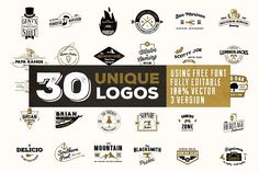 Komplit - 30 Badges Set by SproutBox on @creativemarket