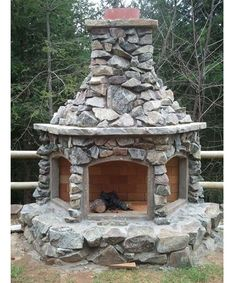 Custom Outdoor Fireplace - Home and Garden Design Ideas - Click image to find more outdoors Pinterest pins