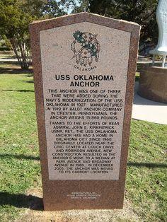 Oklahoma Historical Marker, U. Oklahoma Memorial, Uss Oklahoma, Texas Travel, Travel Usa, Oklahoma Attractions, Hawaii Pictures, Pearl Harbor Attack, Historical Monuments, Native American Art