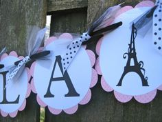 Items similar to Lingerie Shower Banner - Bridal Shower - French Eiffel Tower - Pink and Black - Ooh-la-la on Etsy Party Themes, Party Ideas, Event Ideas, Diy Ideas, Holiday Parties, Holiday Fun, Lingerie Shower Invitations, Baby Shower Themes, Shower Ideas