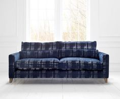 Navy, Textured Voyage Maison Sawyer 2.5 Seater Sofa from Turnbull and Thomas