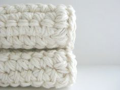 cotton crochet dishcloth scrub scrubbies AND you can by CocoaBeans, $9.00
