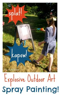 Splat! Kapow! How about some explosive outdoor art, with this idea from the Just So Festival?