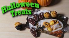 Cute Miniature Halloween Treats - Polymer Clay Tutorial - Cookies, Cupca... Sugarcharmshop made these amazing miniatures.