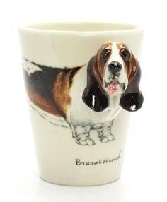 Basset Hound Coffee Mug. $55.00, via Etsy.