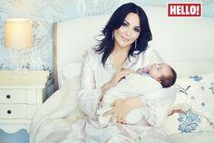 Martine McCutcheon introduces baby Rafferty in Hello! photoshoot