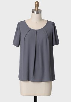 Casual Friday Top In Gray | Modern Vintage Tops