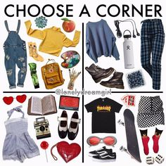 Niche memes pick a corner Aesthetic Fashion, Look Fashion, Aesthetic Clothes, Aesthetic Girl, Teen Fashion Outfits, Trendy Outfits, Cool Outfits, Hipster School Outfits, Tumblr Outfits