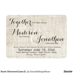 Invitations - format more than anything else here