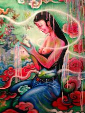"""Close-up from """"Discovery of Life"""" by Tashi Norbu"""