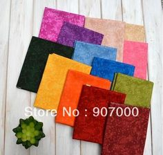 Specail dyed Japanese style 13 candy color  20x 20cm cotton quilting fabric patchwork fabric for DIY 20pcs Freeshipping-inFabric from Indust...