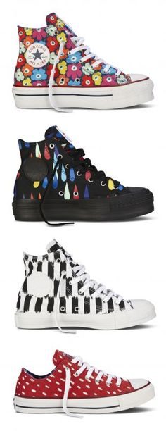 Converse ♥ Marimekko autumn/winter i LUST i LUST i LUST buy this shit before me and i will maim you Cool Converse, Converse Shoes, Vans, Sock Shoes, Shoe Boots, Chuck Taylors Men, Top To Toe, Marimekko, Shoe Brands