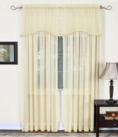 "Mystic Sheer 52"" Arch Curtain Valance"