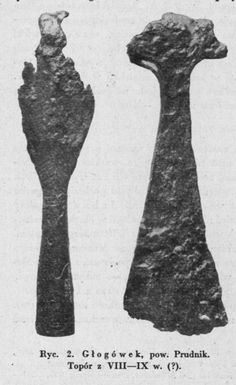 West Slavs in Archaeology — West Slavic axes discovered in the territory of. 11th Century, Folklore, Poland, Vikings, Medieval, Creatures, War Hammer, Russia, Historia