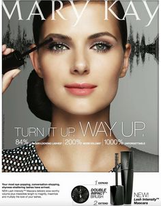 Mary Kay has a BRAND NEW mascara coming out It's called Lash Intensity!!! 84% Longer looking lashes 200% More volume 1000% unforgettable!! The new, double Impact™ Brush helps plump while combing through to lengthen the look of lashes. Mineral-rich, high-impact pigment envelops each lash in a perfect shade of black. All-day wear that resists smudging.
