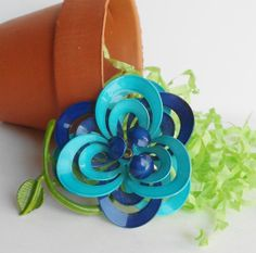 Modern Aqua by vintagefrombutterfly on Etsy