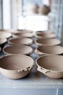 Ceramic bowls with handles