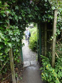 Beatrix Potter's Hill Top Farm garden gate, Near Sawrey, Cumbria Lake District, England, UK.