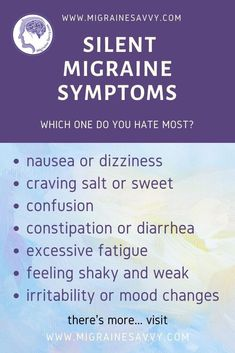 Silent Migraine, Migraine Pain, Chronic Migraines, Migraine Relief, Chronic Pain, Migraine Attack, Endometriosis, Natural Remedies For Insomnia, Natural Health Remedies
