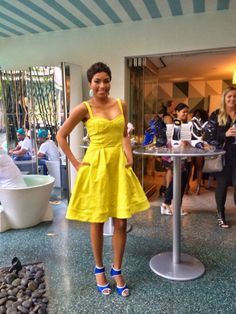 Zac Posen dress & ShoeDazzle heels, to host the ShoeDazzle event
