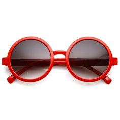 8d8bdf6a90 Classic Retro Style Shiny Plastic Round Circle Sunglasses