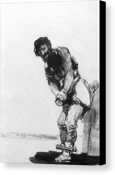 """New artwork made with love for you! - """" Chained Prisoner 1812 Canvas Print / Canvas Art by Goya Francisco """" - https://ift.tt/2MJ54FZ"""