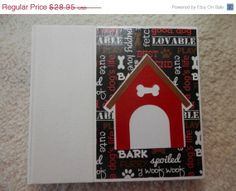 6x6 Premade Dog Scrapbook by SimplyMemories on Etsy