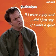 Collection of Chandler Bing or Matthew Perry's dialogues that will refresh you for sure. Click on image to read the whole article. Matthew Perry, Chandler Bing, One Liner, Sarcasm, Legends, Happy Birthday, Good Things, Entertaining, Guys
