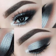 ✨ Silver Smokey Eye ✨ This look is from the other day. I had to deep clean my brushes today so I'll have a new look tomorrow loves ❤️ Products used: • @maccosmetics Soft Ochre paint pot • @makeupgeekcosmetics eyeshadows in Vanilla Bean, Creme Brûlée, Latte, Mocha, Corrupt, High Wire and full spectrum liner in Obsidian • @colourpopcosmetics eyeshadow in Tassel • @lorealmakeup voluminous butterfly waterproof mascara • @houseoflashes in the style Iconic • @anastasiabeverlyhills brow powder duo…