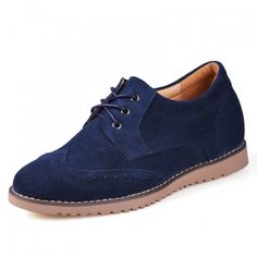 Look for best 2014 Handmade dark blue men elevator casual shoes get taller 6cm / 2.36inches invisibly with the SKU: MENJGL_C163 at Tooutshoes online store