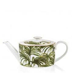 Palmeral Tea Pot White / Green http://www.houseofhackney.com/new-in/home/palmeral-tea-pot-white-green.html