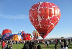 Hot air balloon festival. If you've never been to one - put it on your bucket list. Amazing! :)