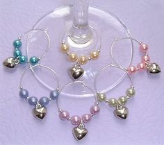 Make wine glass charms in order to tell you glass apart from all the others. Wine Bottle Charms, Bottle Jewelry, Glass Jewelry, Jewellery, Wine Glass Markers, Charm Rings, Charm Bracelets, Wine Photography, Wine Craft