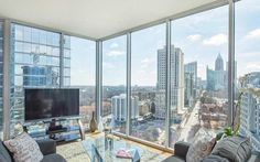 2/2 Condo Offers Extensive Midtown Mile View  Address: 1080 Peachtree Street #1610, Atlanta, GA 30309 Neighborhood: Midtown 2 Beds | 2 Baths | 1,397 sqft | Built in 2008 | Listed on 04/19  And the monthly HOA fee shouldn't kill the deal.
