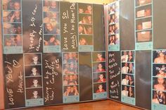 photo booth scrapbook/guest book