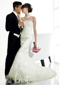2014 New Style Moonlight Couture H1112 Wedding Dress [H1112]