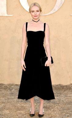 Kate Bosworth in a black Dior midi dress