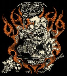 keith weesner prints | Art Show — The 13th Annual Lonestar Rod & Kustom Round Up - April 4 ...