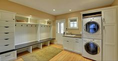 Love the idea of a laundry/mudroom combo. Also, I like the idea of drawers for hats, gloves, snow pants, etc- Minneapolis Remodel/Addition - traditional - laundry room - minneapolis - Highmark Builders Mudroom Laundry Room, Laundry Room Design, Laundry Area, Mudrooms With Laundry, Garage Laundry, Laundry Decor, Laundry Storage, Mudroom Cubbies, Mudroom Cabinets