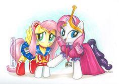 Sailor Moon, Princess Bubblegum My little ponies....this is legit.