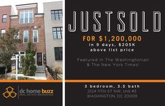 One of our latest SOLD listings that was featured in NYT & The Washingtonian sold in 9 days, $205K above list price!