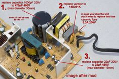 Makita DC18RA PCB after mod